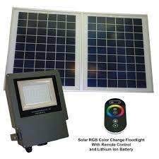 Solar Landscape Lights Home Depot by Solar Goes Green Solar Grey Color Led Changing Outdoor Flood Light