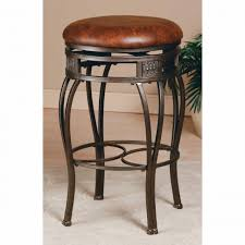 bar stools brown marble countertop and backsplash black leather