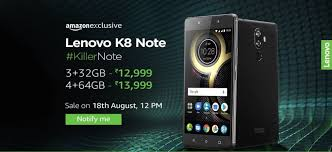 android stock price lenovo k8 note with two rear cameras android stock 7 1 1 launched