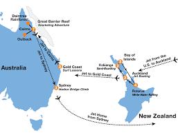 auckland australia map australia new zealand adventure summer tour 26 day tour