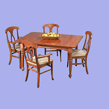Birch Dining Table And Chairs Room Table Set Autumn Stain Hardwood Birch Table 56 Inch X 38 Inch