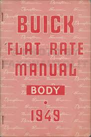 1949 buick super and roadmaster body repair shop manual reprint