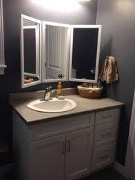 tri fold mirror bathroom cabinet vintage tri fold mirror pottery barn online only 449 pinteres