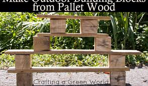 How To Make Patio Furniture Out Of Pallets Outdoor Building Blocks Made From Upcycled Wooden Pallets