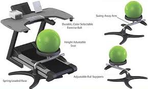 Yoga Ball Desk Chair by Living Room Amazing Stability Ball Office Chair Coredesign