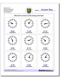 telling analog time