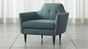Barrel Accent Chair Teal Blue Mid Century Accent Chair Crate And Barrel