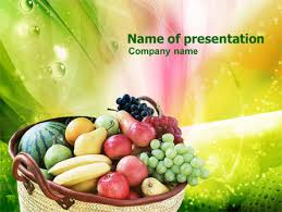 basket of fruits basket of fruits powerpoint template backgrounds 00866