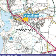 map uk villages map of woodstock uk