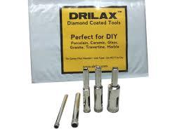 drilax 5 pcs diamond drill bit set 3 16