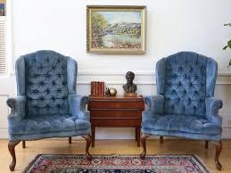 Velvet Wingback Chair Design Ideas Blue Velvet Wingback Chair Desk Design Ideas Www