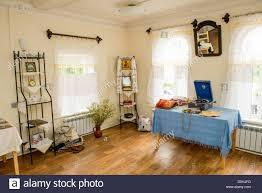 traditional russian village home interior taken in myshkin