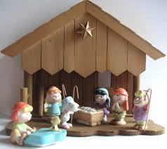 vintage nativity peanuts nativity figurine by qvintage