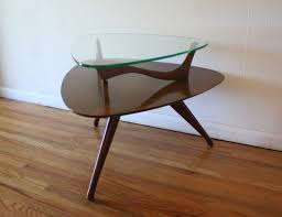 Glass Top Table Glass Picked Vintage