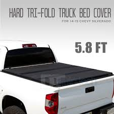 Chevy Silverado 1500 Truck Bed Covers - 14 17 silverado sierra lock hard solid tri fold tonneau cover 5 8