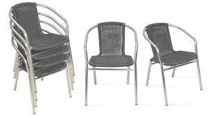 chaise jardin aluminium chaise jardin empilable alu chaise de jardin aluminium et résine
