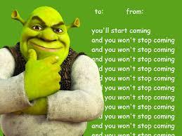 Shrek Meme - shrek valentines tumblr