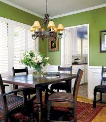 Bright And Cheery Rooms Inspired By Fall Colors Green Walls - Colors for dining room