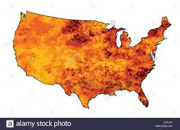 Picture Of A Map Of The United States by An Outline Silhouette Map Of The United States Of America Flames