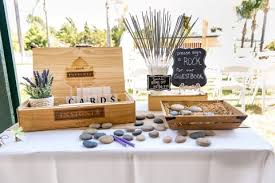 signing rocks wedding guest book backyard wedding in el cajon with wine theme