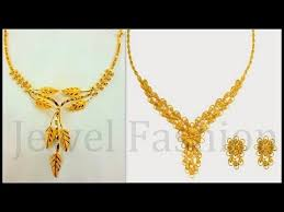 simple gold necklace designs 2017