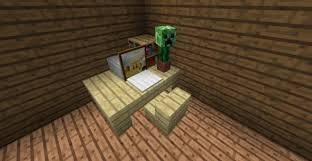 How To Build A Bookcase In Minecraft How To Make Writing Desk In Minecraft Minecraft Seeds Pc Xbox
