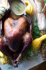 smoked thanksgiving turkey with morita chile gravy hola
