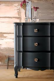 love the matte charcoal color on a french provincial piece