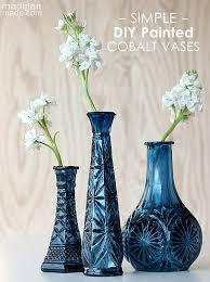 Cobalt Blue Vases Diy Cobalt Painted Glass Video Tutorial Rosyscription