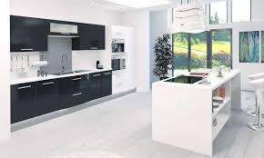 cuisine blanche et noir étourdissant cuisine blanc et noir avec emejing cuisine blanc et
