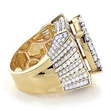 celebrity mens ring by luxurman 14k gold 10ct