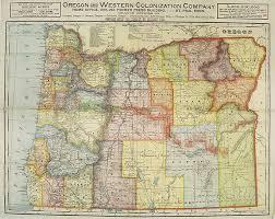 map of oregon cram oregon and western colonization company map of oregon