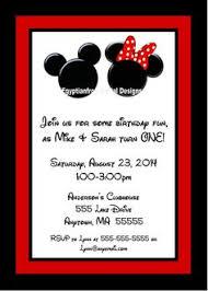 minnie and mickey mouse birthday invitations invitation