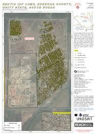 South Sudan Map Bentiu Idp Camp Rubkona County Unity State South Sudan Unitar