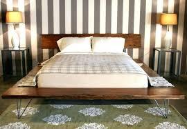 High Bed Frame Queen Bedroom Low Profile Headboard Beds Frames King Size Platform