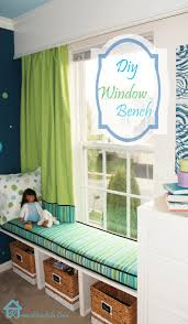 diy window bench window benches big rooms and toy storage