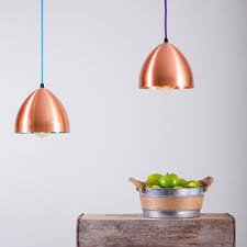 cooper hand spun copper head lamp pendant light by glow lighting