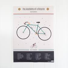 bicycle wrapping paper anatomy of a bicycle wrapping paper 5 sheets rex london