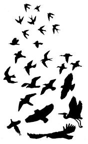 bird outline tattoo clip art library