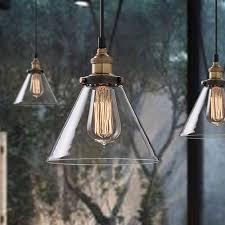 kitchen dining room light fixtures aliexpress com buy vintage loft clear glass pendant light for