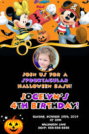 Halloween Happy Birthday by Mickey And Minnie Mouse Halloween Birthday Invitations 8 99