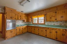 Knotty Pine Cabinets Kitchen Same Old One Story How To Bring A 1950s Rancher Into This