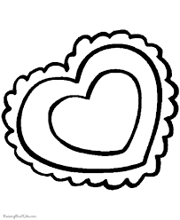 preschool valentine coloring pages 007