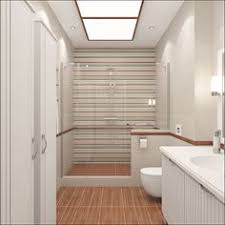 Narrow Bathroom Ideas The Tub And Shower In This Modern Master Bathroom Combine In A