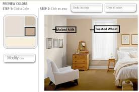 behr toasted wheat accent wall with malted milk color for