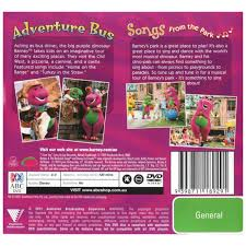 barney songs from the park adventure bus dvd big w