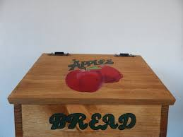 Apple Kitchen Canisters Bread Box Apple Bread Box Apple Kitchen Decor Apple Decor