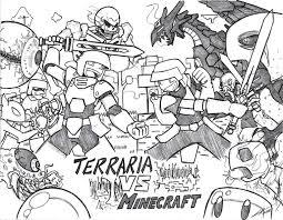 minecraft vs terraria by gold paladin on deviantart