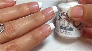 gelish french manicure youtube
