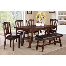 dark walnut dining chair set of 2